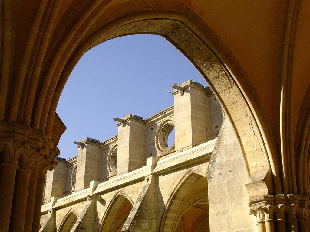Arche du cloître de l'Abbaye de Royaumont
